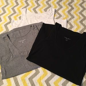 Set of 3 wide strap maternity tank tops